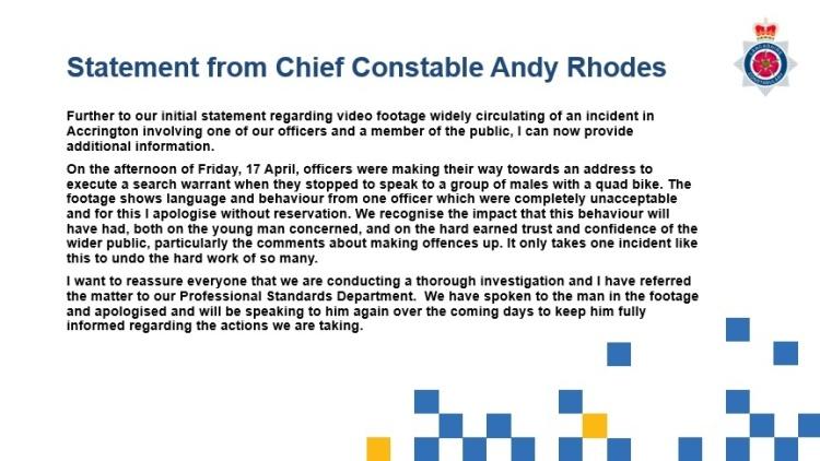 Lancashire Police statement