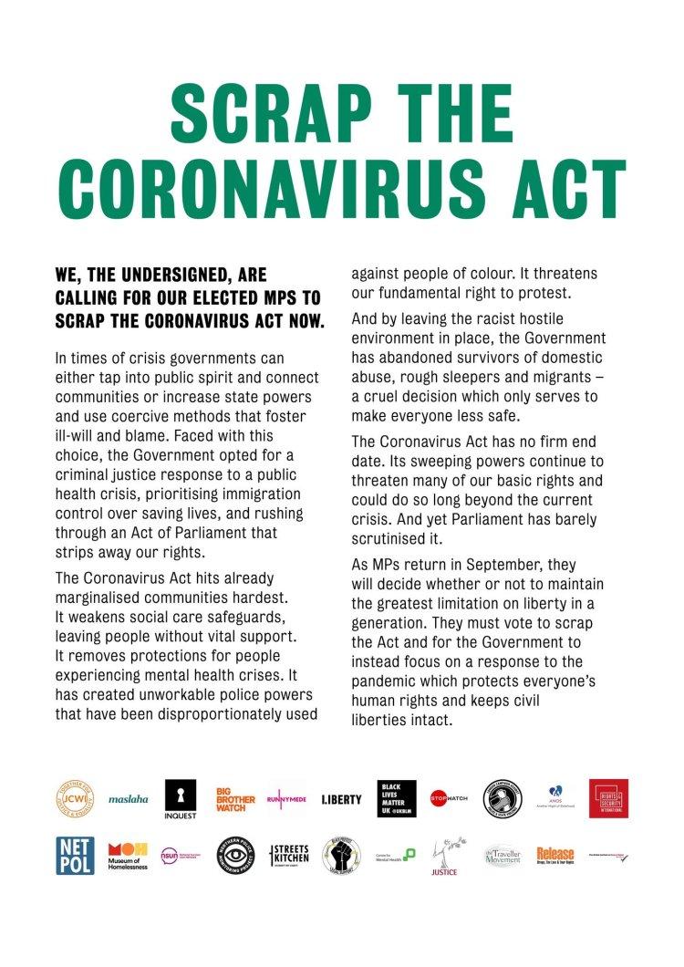 Coronavirus Act statement
